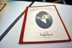 Parigi, Café des 2 Moulins menù