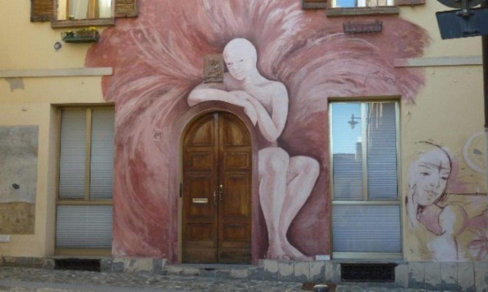 street art dozza via bologna welcome