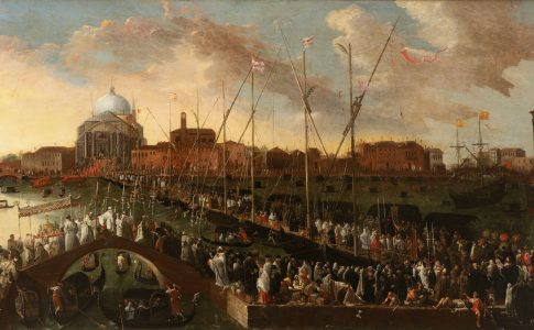 Joseph Heintz il giovane La processione del Redentore, 1648-1650 Olio su tela; cm 115 x 205 Venezia, Museo Correr, Cl. I n. 2058. Via Muve