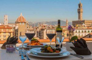 Aperitivo con vista su Firenze, Hotel Pitti Palace