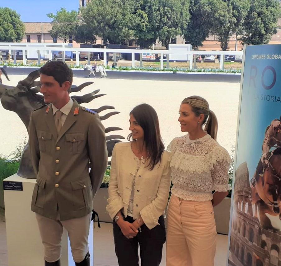 Virginia Raggi con Edwina Tops-Alexander e Alberto Zorzi. Ph. Michele Piatti.