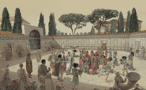 Piazza Ninfeo ricostruzione